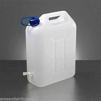 Water Storage Containers 10 Litre Carrier Tap Spout Food Grade Jerry Can