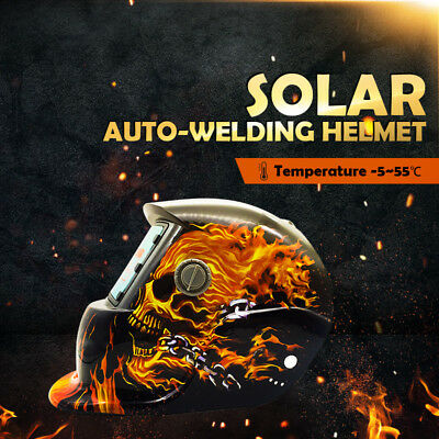 Pro Solar Power Auto Darkening Welding Helmet Arc Tig Mask Skull AU Stock