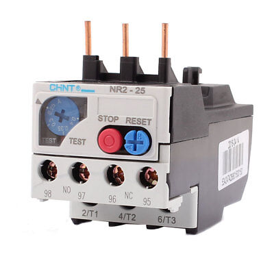 0.25-0.4A 3 Pole 1 NO 1 NC Motor Protector Electric Thermal Overload Relay