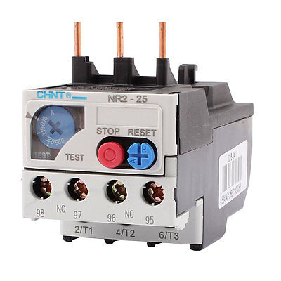 0.16-0.25A 3 Pole 1 NO 1 NC Motor Protector Electric Thermal Overload Relay