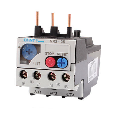 NR2-25 0.63-1A 3 Pole 1 NO 1 NC Motor Protector Electric Thermal Overload Relay