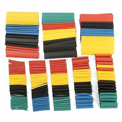 328Pcs Polyolefin 8 Size Assorted 2:1 Heat Shrink Tubing Sleeving Wrap Cable Kit