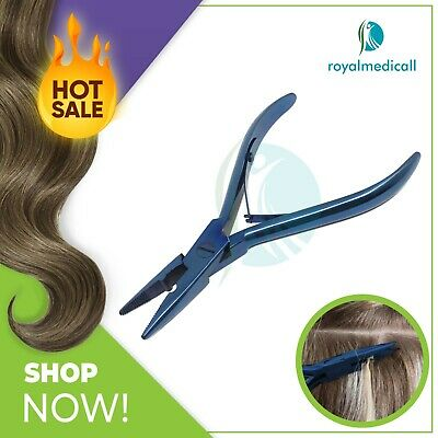 "Stainless Steel Removal & Fitting Pliers 5"" Hair Extension Tools by MAQNSCO BLUE"