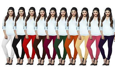 Wholesale Lot Of 10 Pcs Indian Churidar Legging Women Cotton Stretch Yoga Pants