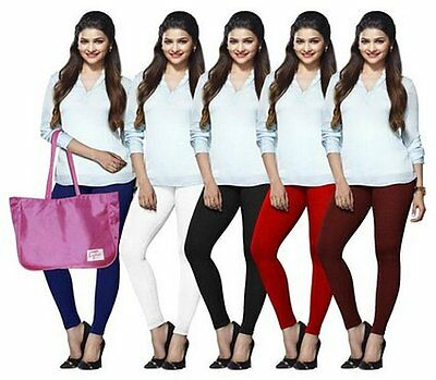 Wholesale Lot of 5 Pcs Indian Ankle Length Legging Women Cotton Yoga Pant