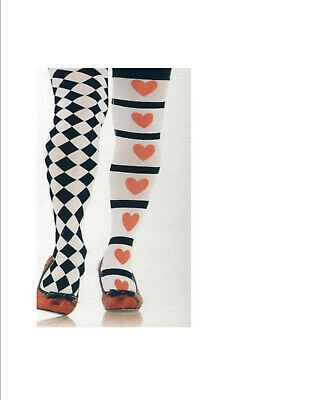 83e199da251d5 Leg Ave 4905 Harlequin Tights Hearts Diamonds Petite Little Women Tween  Girls XL
