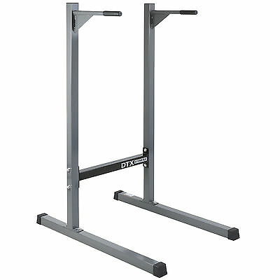 DTX Fitness Dip Station Tower Bar Tricep Dipping Exercise Home Gym Stand Bench