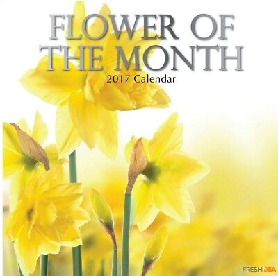 Flower of the Month - 2017 Wall Calendar 16 Months by The Gifted Stationery (O)