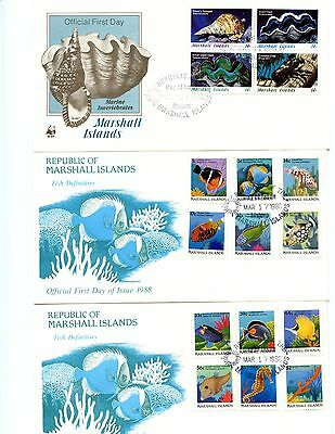 Cocos Is.-Marshall Is.-Papau New Guinea Cover Lot ~ Unused ~ 6 Pcs.