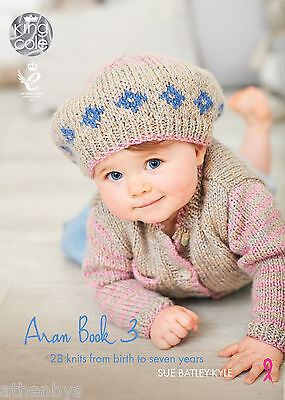King Cole Aran Book 3  by Sue Batley-Kyle Knitting Book 28 knits for 0 - 7 years