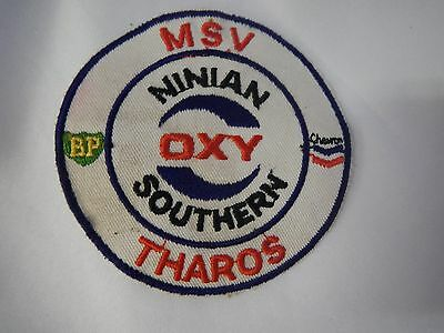 VINTAGE OXY Tharos BP MSV Southern Ninian Sew-On Patch