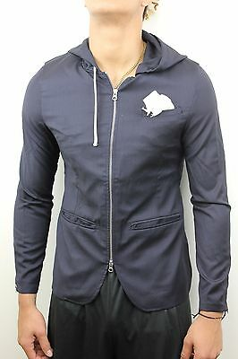 first rate 78392 a3101 Adidas ObyO David Beckham Mens Hooded Wool Dark Navy Blue Jacket O27188 NWT