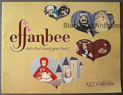 Original Vintage 1977 Effanbee Collection Doll Catalog