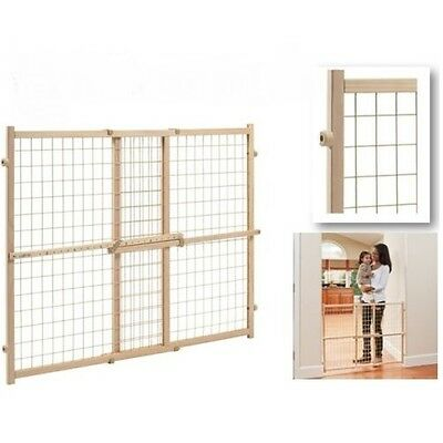 "Gate Extra Tall 32"" Pet Door Fence Child Lock Wide Wood Dog Barrier baby safety"