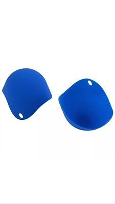 2 x Blue Silicone Egg Poacher Poaching Poach Cup Pods Mould