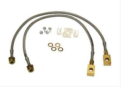 """Skyjacker FBL97 Brake Lines Braided Stainless Chevy GMC Front 1-3"""" Lift Pair"""