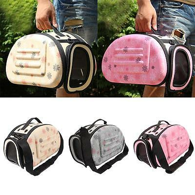 Portable Pet Small Dog Cat Sided Carrier Travel Tote Shoulder Bag Cage Kennel