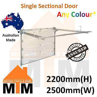 """ Brand New "" Single Sectional Panel Lift Garage Door Any Colour 2200(H) 2500(W)"