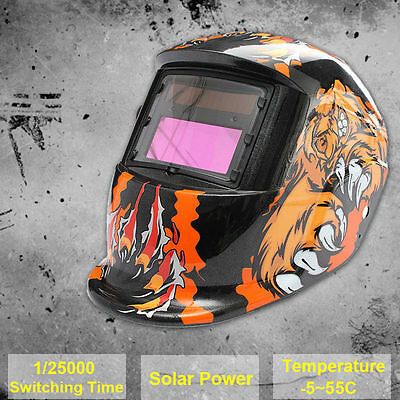 AU Stock Pro Solar Power Auto Darkening Welding Helmet Bear Mask High Quality