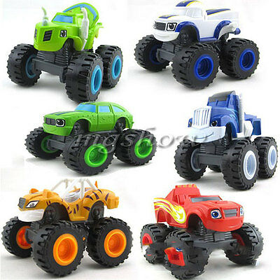 6pcs Blaze and the Monster Machines Racer Cars Vehicle Trucks Diecast Kids Toy