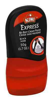 KIWI Express No Buff Cream Shoe Polish, Black 1.7 oz