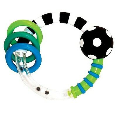 Sassy Rattlin Rings, Blue - Black 1 ea