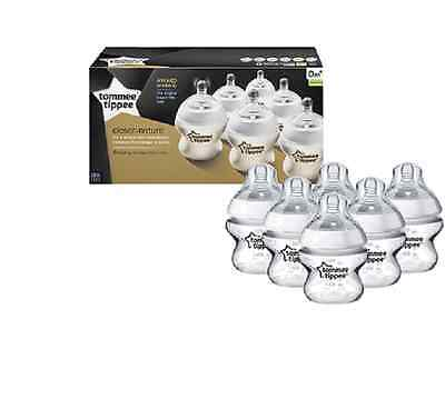 Tommee Tippee 422460 Closer to Nature 150 ml/5fl oz Feeding Bottles (6-pack)