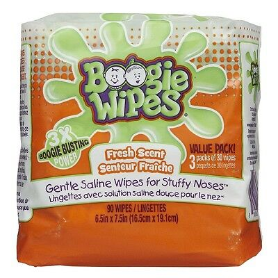 Boogie Wipes Gentle Saline Wipes, Fresh 90 ea
