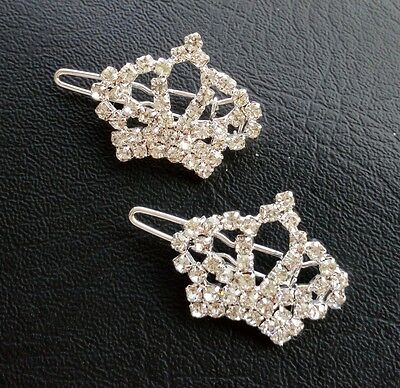 Delicate Crystal Crown Alloy Gilrs' Pet Cat Dog Hair Clips Grooming Accessories