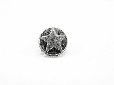 Punk Rivets Round Star Antique silver 9.5mm jasz up bags hats boots wristbands