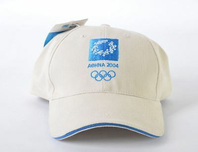 Olympic Games Athens 2004 Rare Beige Cap Hat Official Licensed Product New