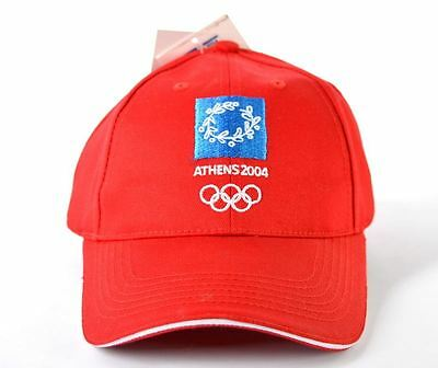 Olympic Games Athens 2004 Rare Red Cap Hat Official Licensed Product New