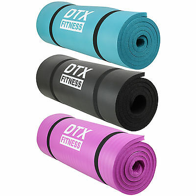 DTX Fitness Thick 15mm NBR Foam Exercise Mat Yoga/Pilates/Aerobics/Workout SitUp