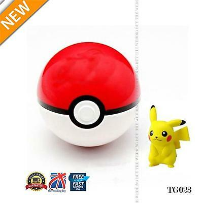 Pokemon Pokeball Pop-up 7cm Plastic BALL Toy Action + Free Pikachu Monster TG023