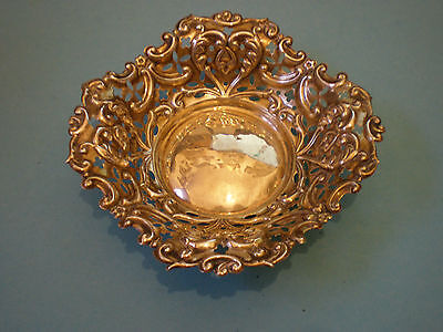 Silver Bowl, Sweet Meats Dish Or Pin Dish By Walker And Hall  Birmingham 1898