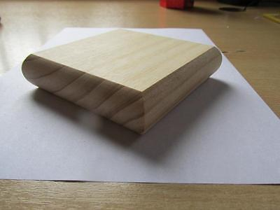 Solid Pine Flat  Stair Newel Post Caps for 90mm posts Full and Half Option