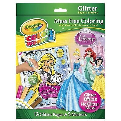 Crayola Color Wonder Disney Princess Glitter Mess Free Coloring Set 1 ea (9pk)