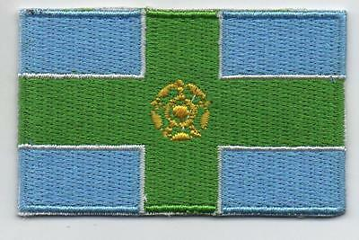 Embroidered DERBYSHIRE County Flag High Quality Iron on Sew on Patch Badge