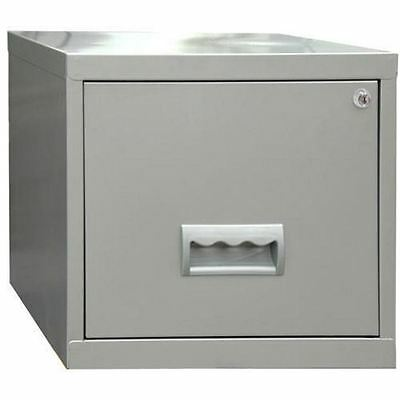 1 Drawer A4 Filing Cabinet - Silver 40W x 40D x 36H cm