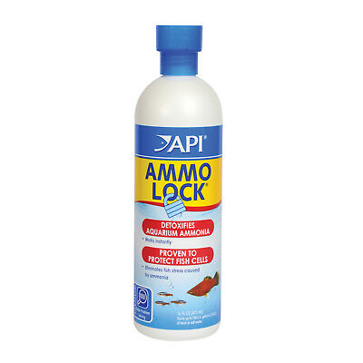 FREE SHIPPING API AMMO LOCK 473mL Aquarium Ammonia Detoxifier reduce Fish stress
