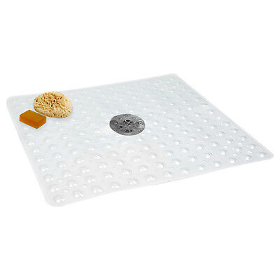 "Evelots Non Slip Bath & Shower Mat With Powerful Suction Cups, 21"" X 21"""