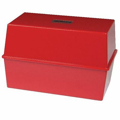 8 x 5 Inch Card Index Box - Red