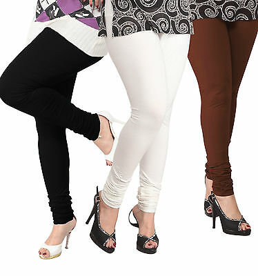 Wholesale Lot of 3 Pcs Women Churidaar Legging Cotton 4 Way Stretch Yoga Pants