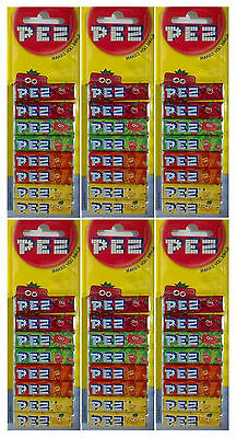6x Pack Of 8 PEZ Refills Fruit Flavour Sweets For PEZ Dispenser (48 refills)-New
