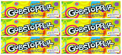 6 x Formally Wonka Everlasting Gobstoppers 50.1g Box Retro Sweets