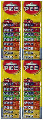 4x Pack Of 8 PEZ Refills Fruit Flavour Sweets For PEZ Dispenser (32 refills)-New