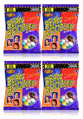 4 x Jelly Belly 3rd Edition Bean Boozled 54g Refill Candy Bags - New