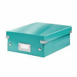 Leitz WOW click and store organiser box small ice blue