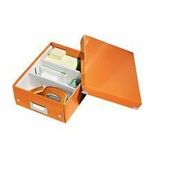 Leitz WOW click and store organiser box small orange
