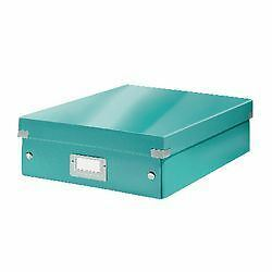 Leitz WOW click and store organiser box medium ice blue